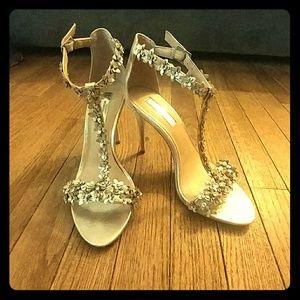 Gold scrappy heels